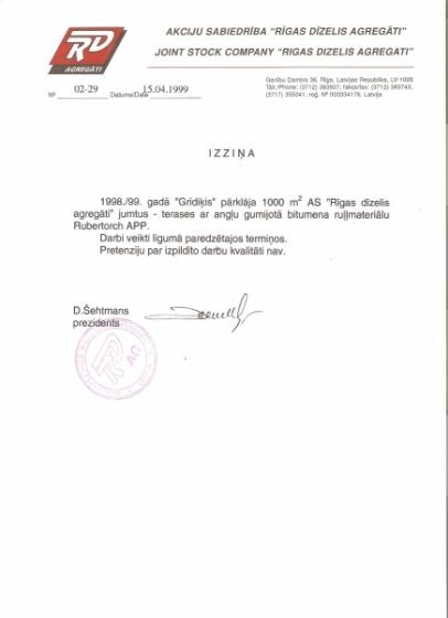 Rīgas dīzelis agregati 1999